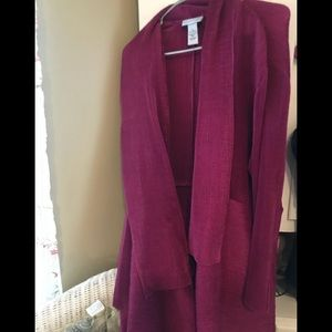 Purple lightweight blazer.